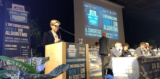 XXVIII congresso FNSI – L'intervento di Alessandra Costante dell'ALG